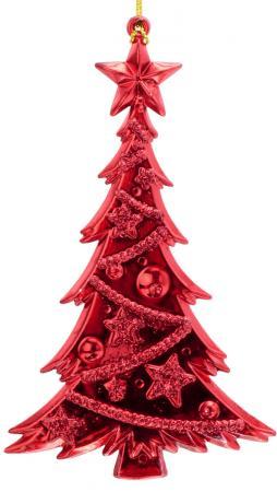 Елка блестящая с инеем, 1 шт., 15 см, 6 цв. украшение елочное подвеска блестящая крошка 2 шт в прозрачном пакете 8 см 4 цв белый красны