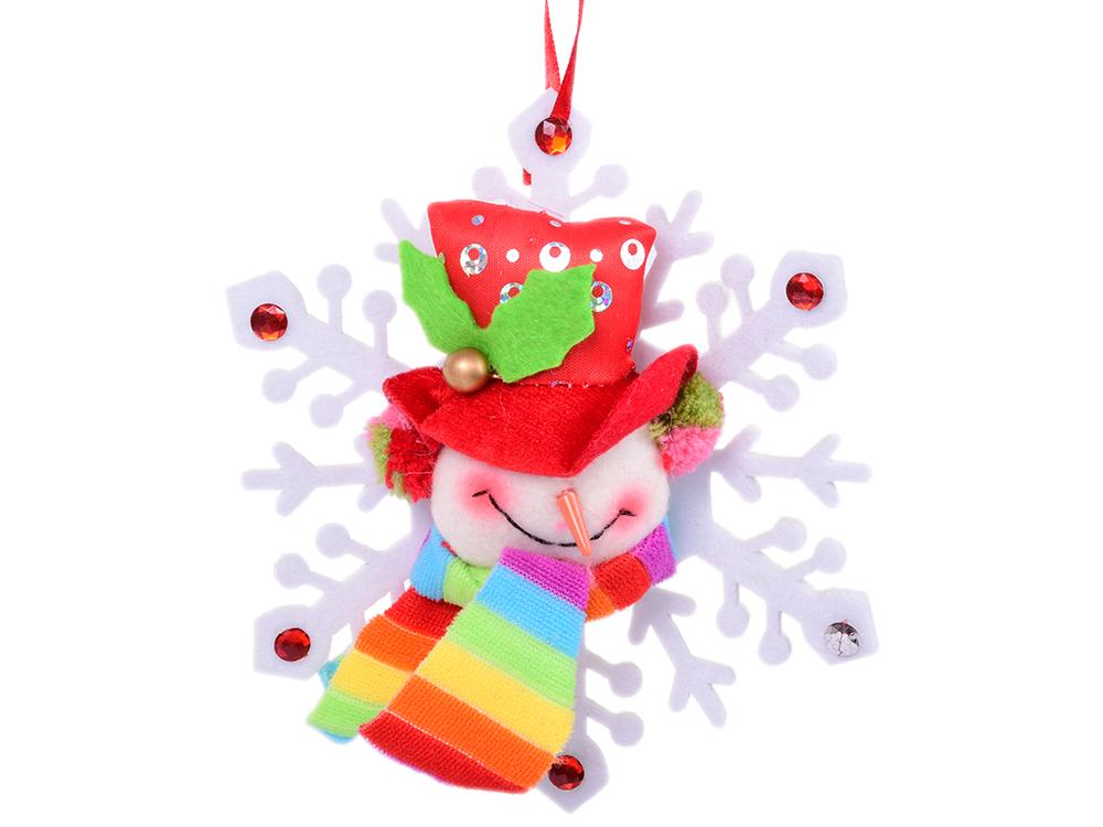 Украшение Winter Wings Снежинка с персонажем 15 см 1 шт полиэстер ель winter wings n04127 90 см световод с разноцветными супер яркими лампами 100 ламп led 100 веток