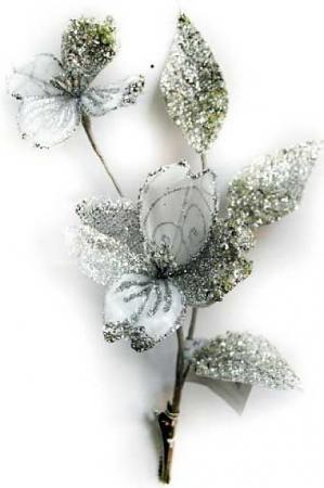 Елочные украшения Winter Wings Цветок 27 см 1 шт полиэстер ель winter wings n04127 90 см световод с разноцветными супер яркими лампами 100 ламп led 100 веток