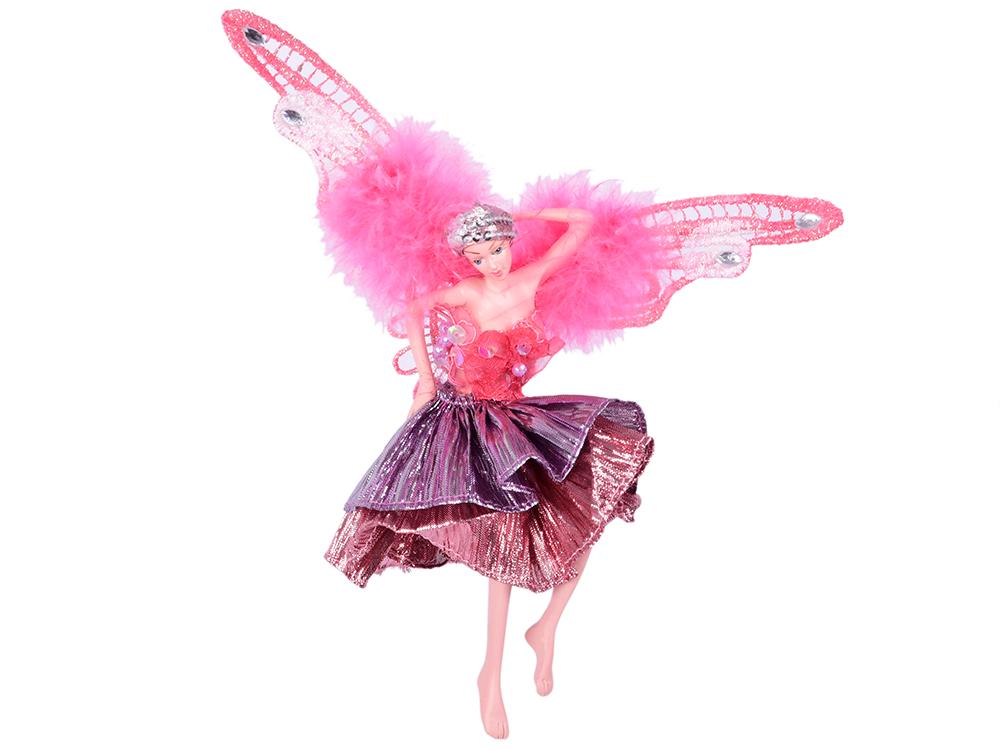 Украшение декоративное Фея, в розовом платье, 15 см, полирезин
