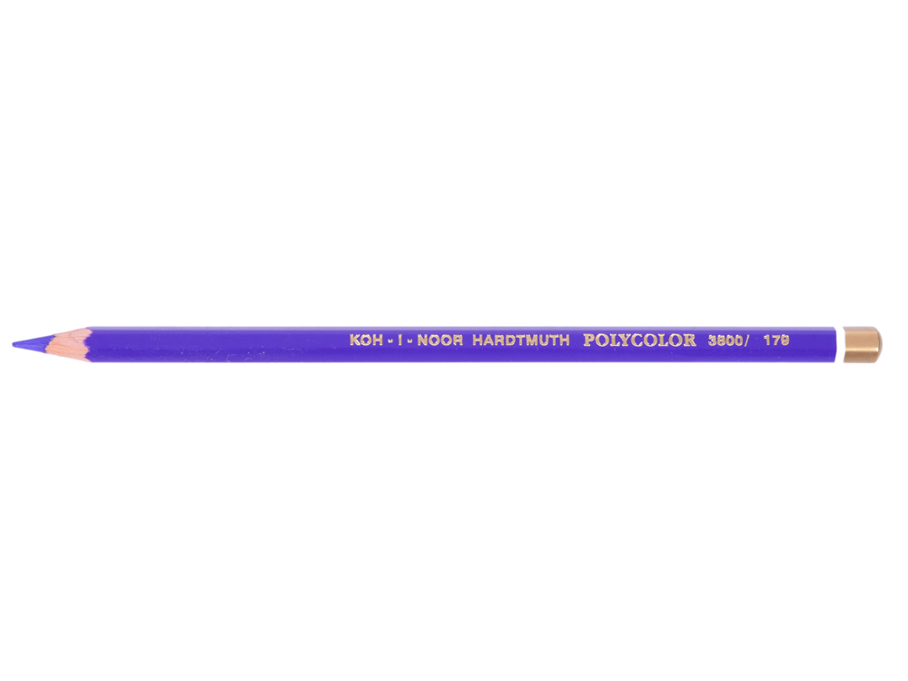 Карандаш художественный POLYCOLOR, лилово-фиолетовый карандаш художественный polycolor кобальтово синий