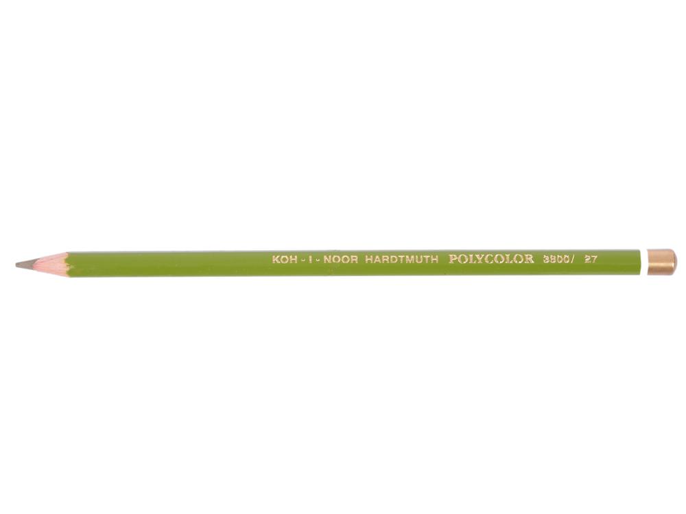 Карандаш художественный POLYCOLOR, оливковый зеленый карандаш художественный polycolor кобальтово синий
