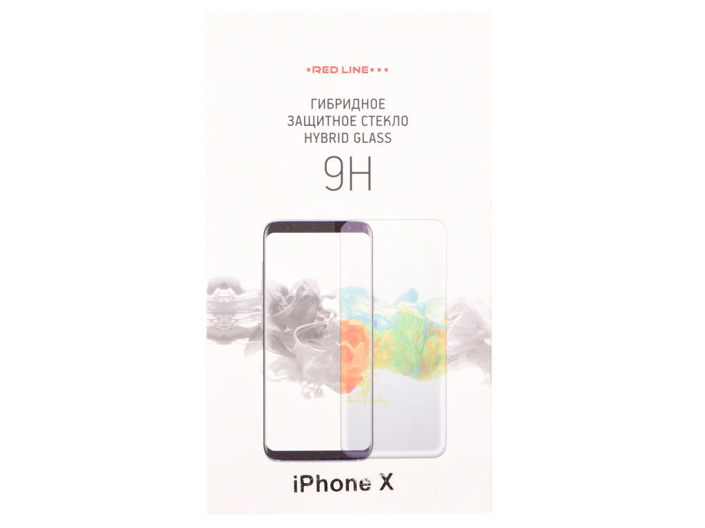 Защитная плёнка Red Line прозрачная для Apple iPhone X УТ000015235 аксессуар защитная пленка protect для apple iphone x front