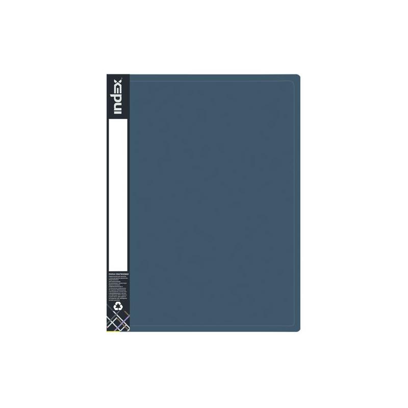Папка на 2 кольцах INDEX METALLIC, форзац, ф.A4, темно-синяя, 0.75мм, 2см mayoral толстовка темно синяя