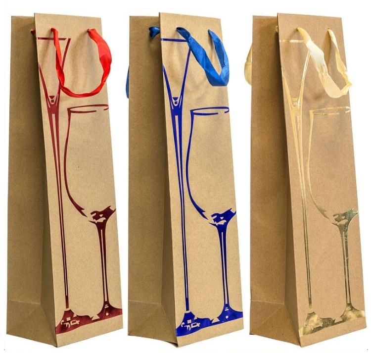 Пакет подарочный крафт, 120*390*90 мм, с тиснением, бумага пакет подарочный winter wings n13297 260х324х127 мм