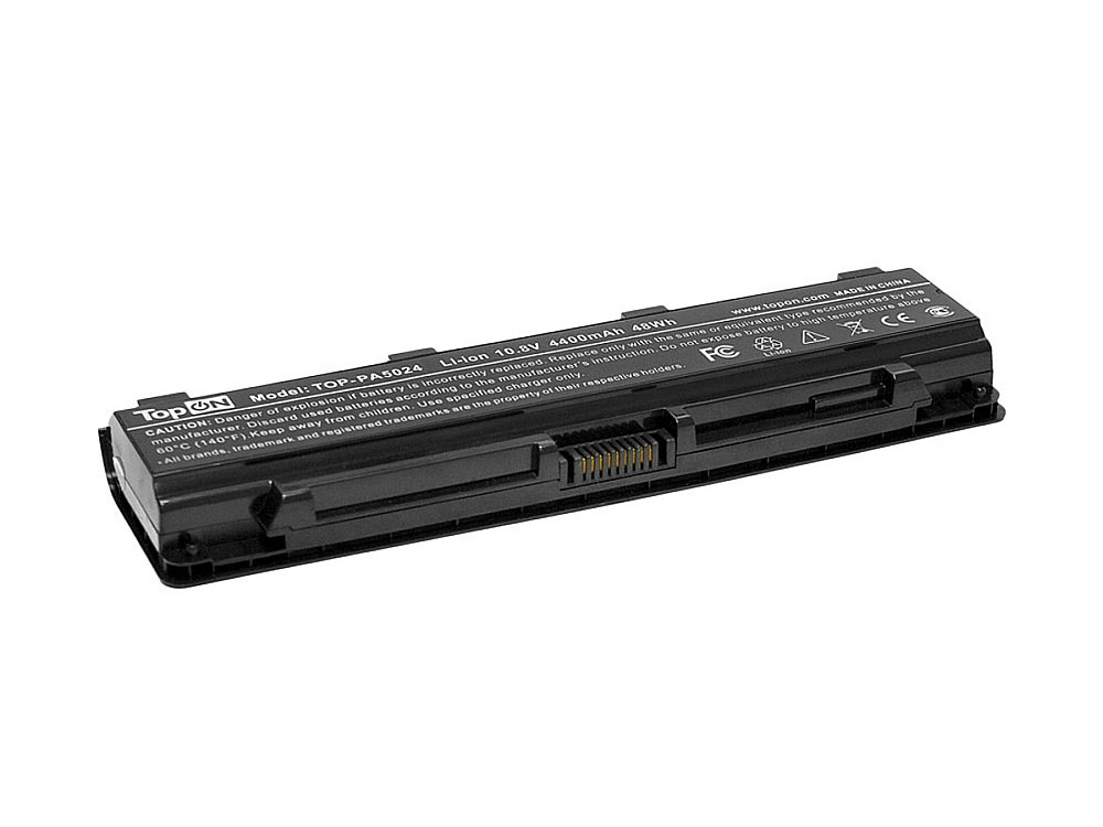 цены Аккумулятор для ноутбука TopON TOP-PA5024 для Toshiba Satellite C50, C55, C70, C75, C800, C840, C845, C850, C855, C870, C875, L70, L75, L800, L840, L845, L850, L855, L870, L870D, L875, M800, M845, P80