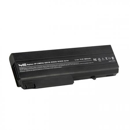 Аккумулятор для ноутбука TopON TOP-NX6120H для HP Compaq nc6100, nc6200, nc6400, 6510, 6910, nx6300 Series, 6600мАч, 11.1V цена и фото