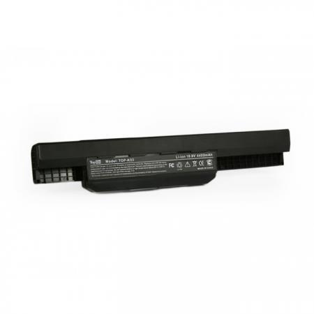 Аккумуляторная батарея TopON TOP-K53 4400мАч для ноутбуков Asus A43 A53 K43 K53 X43 X44 X53 X54 аккумуляторная батарея topon top x11 4800мач для ноутбуков samsung r18 r20 r25 np x1 nt x1 np x11