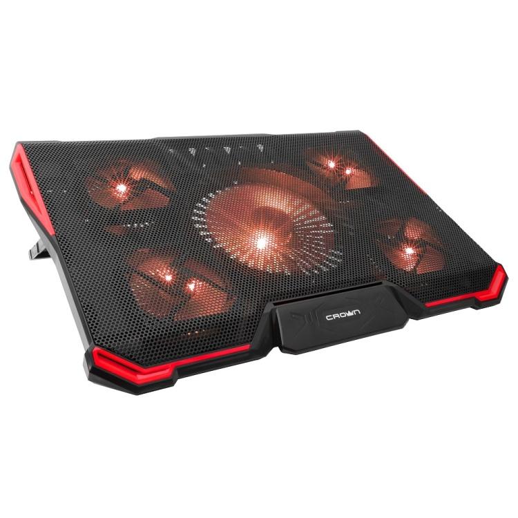 Подставка для ноутбука CROWN CMLS-k330 RED до 19 Размер 410*292*29мм , кулеры: D140mm*1+ D80mm*4 подставка для ноутбука crown cmls k331 blue до 19 размер 410 292 29мм кулеры d140mm 1 d80mm