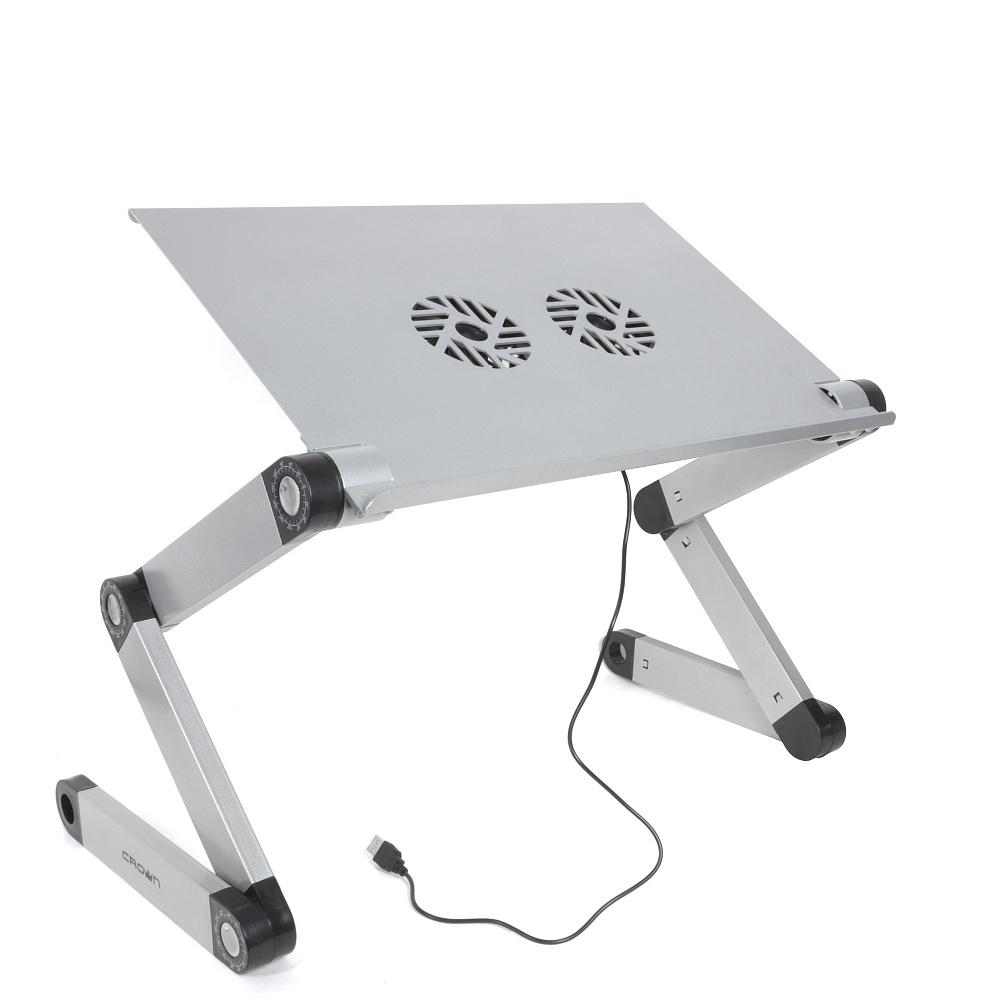 """Столик для ноутбука CROWN CMLS-116G до 17"""", размеры панели (Д*Ш): 42*27.5см, регулируемая высота"""