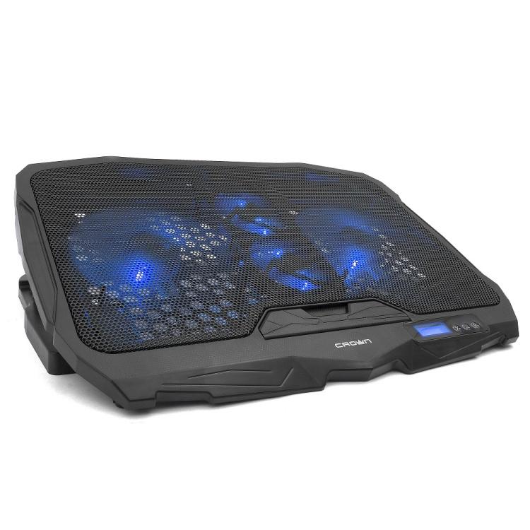 Подставка для ноутбука CROWN CMLS-01 black ( до 17, кулеры: D125mm*2+ D70mm*2,красная led подсветк подставка для ноутбука crown cmls k331 blue до 19 размер 410 292 29мм кулеры d140mm 1 d80mm