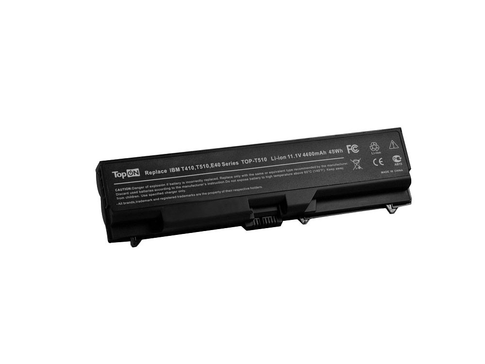 Аккумулятор для ноутбука TopON TOP-T510 для Lenovo ThinkPad L410, L412, L420, L421, L510, L512, L520, T410, T420, T510, T520, W510, W520, SL410, SL510, E40, E50, Edge 14, Edge 15, E420, E425, E520, E5 new original for lenovo thinkpad e50 30 e50 70 e50 80 top screen cover lcd rear shell