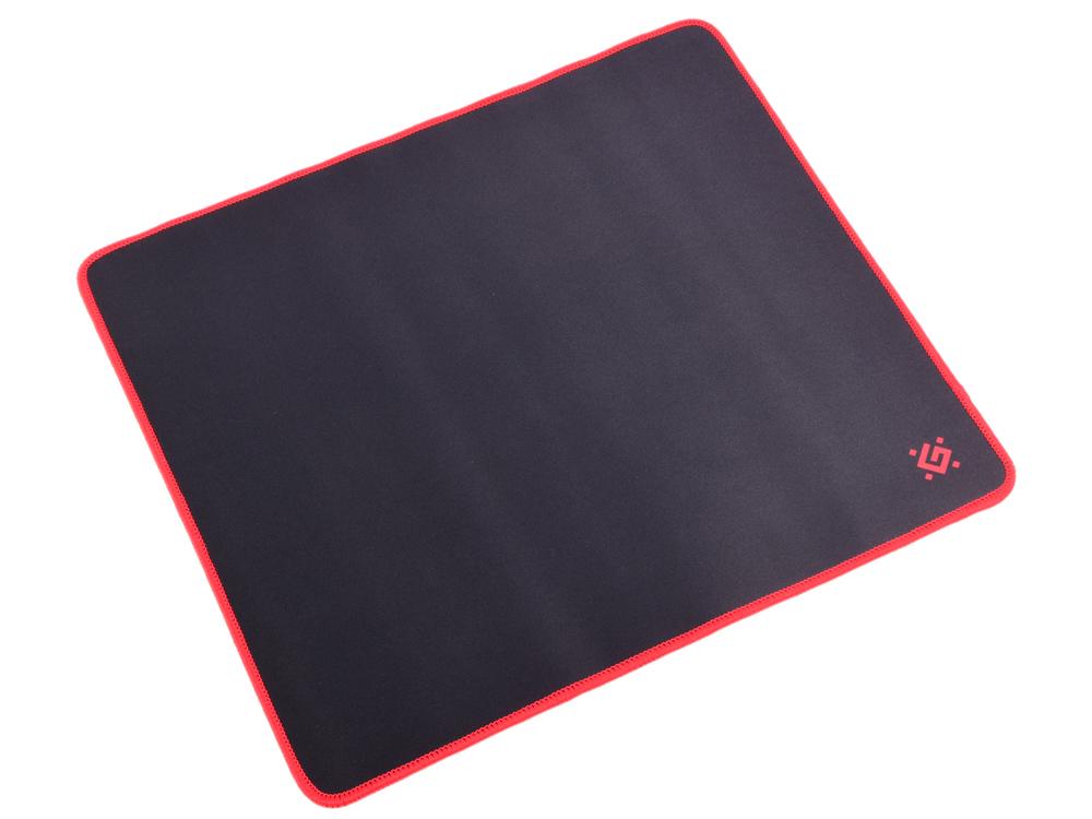 Коврик игровой Defender Black XXL 400x355x3 мм, ткань+резина игровой коврик для мыши archelon m 300х260х5 мм ткань резина redragon