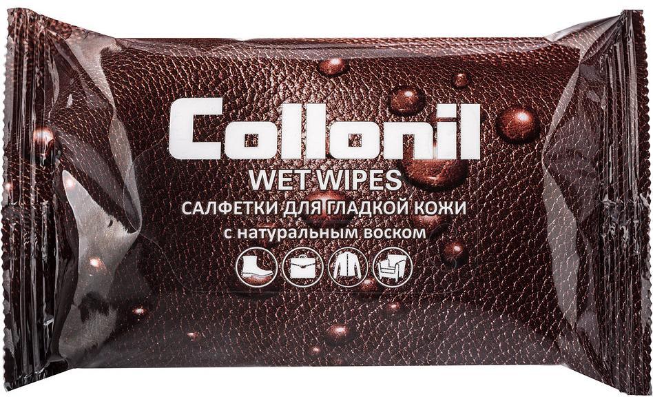 Салфетки влажные Collonil №15 для ухода за гладкой кожей с натуральным воском влажные салфетки vestar алоэ вера освежающие 15 шт