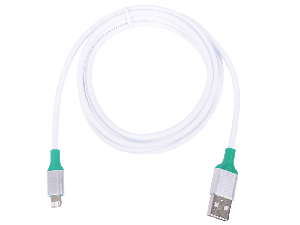 Greenconnect Кабель 1.5m Apple USB 2.0 AM/Lightning 8pin MFI для Iphone 5/6/7/8/X - поддержка всех I 33-050544 зеленый кабель greenconnect gcr 50616 white usb lightning mfi 0 25 м