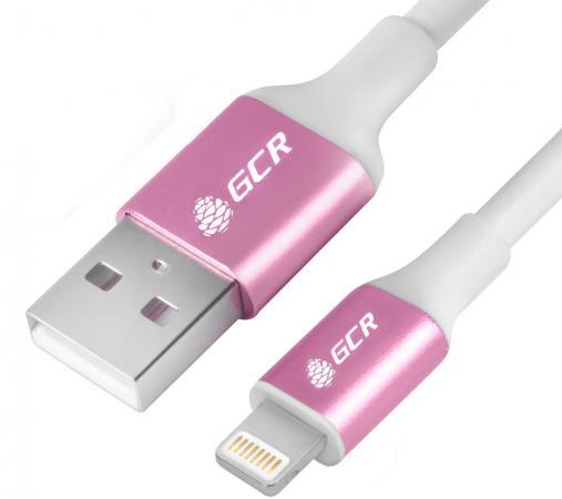Фото - Greenconnect Кабель 1.5m Apple USB 2.0 AM/Lightning 8pin MFI для Iphone 5/6/7/8/X - поддержка всех I GCR-50778 розовый кабель code usb на lightning mfi 1м розовый
