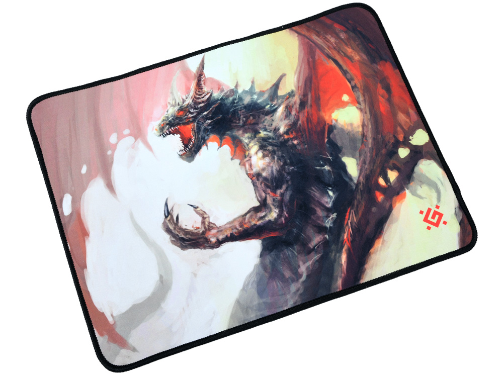 Коврик игровой Defender Dragon Rage M 360x270x3 мм коврик игровой defender black xxl 400x355x3 мм ткань резина