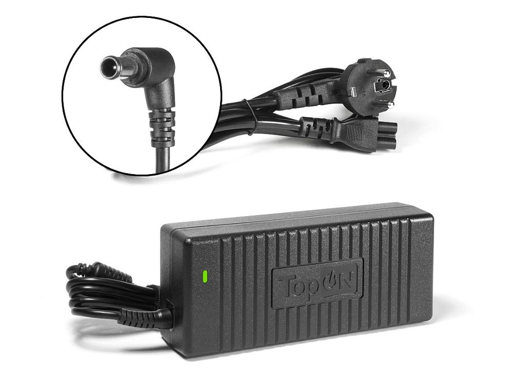 Зарядное устройство для моноблока TopON TOP-SY07 Sony Vaio VGN-AW VPCF VPCZ Series. 19.5V 6.2A 120W. Коннектор 6,5 на 4,4мм с иглой. зарядное устройство для нетбука topon top ac04 acer aspire one zg8 kav10 756 d255 d370 series 19v 1 58a 30w коннектор 5 5 на 1 7 мм