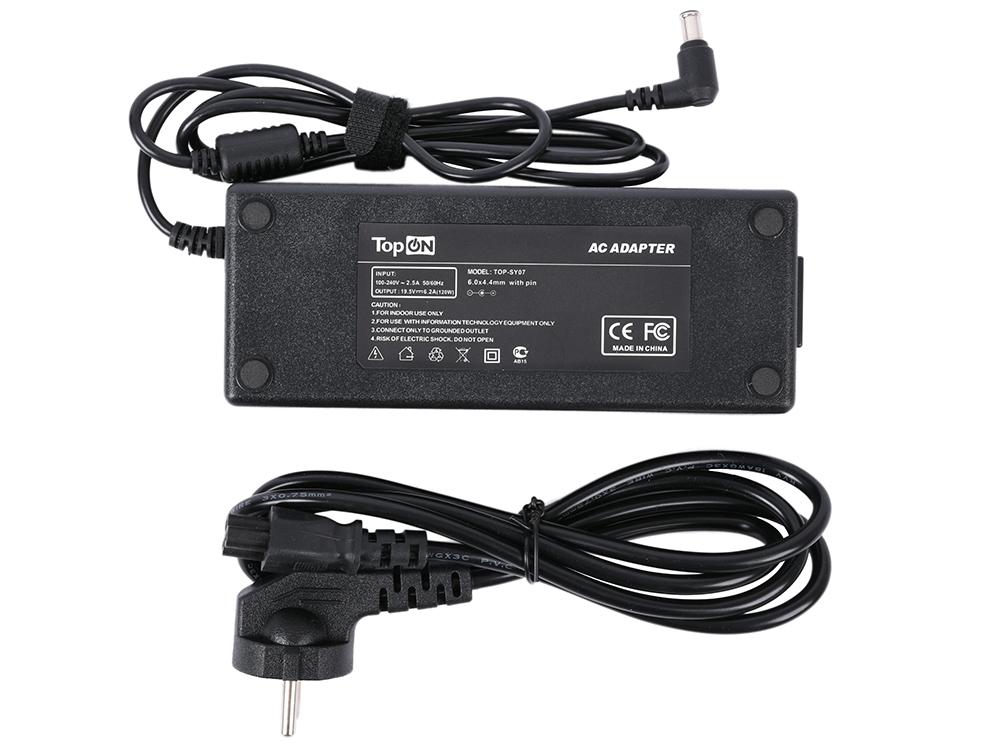 Фото - Зарядное устройство для моноблока TopON TOP-SY07 Sony Vaio VGN-AW VPCF VPCZ Series. 19.5V 6.2A 120W. Коннектор 6,5 на 4,4мм с иглой. клавиатура topon hp probook 4540s 4545s 4740s series плоский enter без рамки pn 701485 251 9z n6msw 10r top 93566 черный