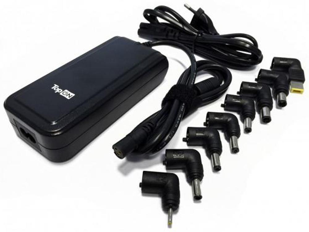Универсальный блок питания для ноутбуков TopON TOP-UNIV_8 90 Вт, USB 2.1A тесты ноутбуков