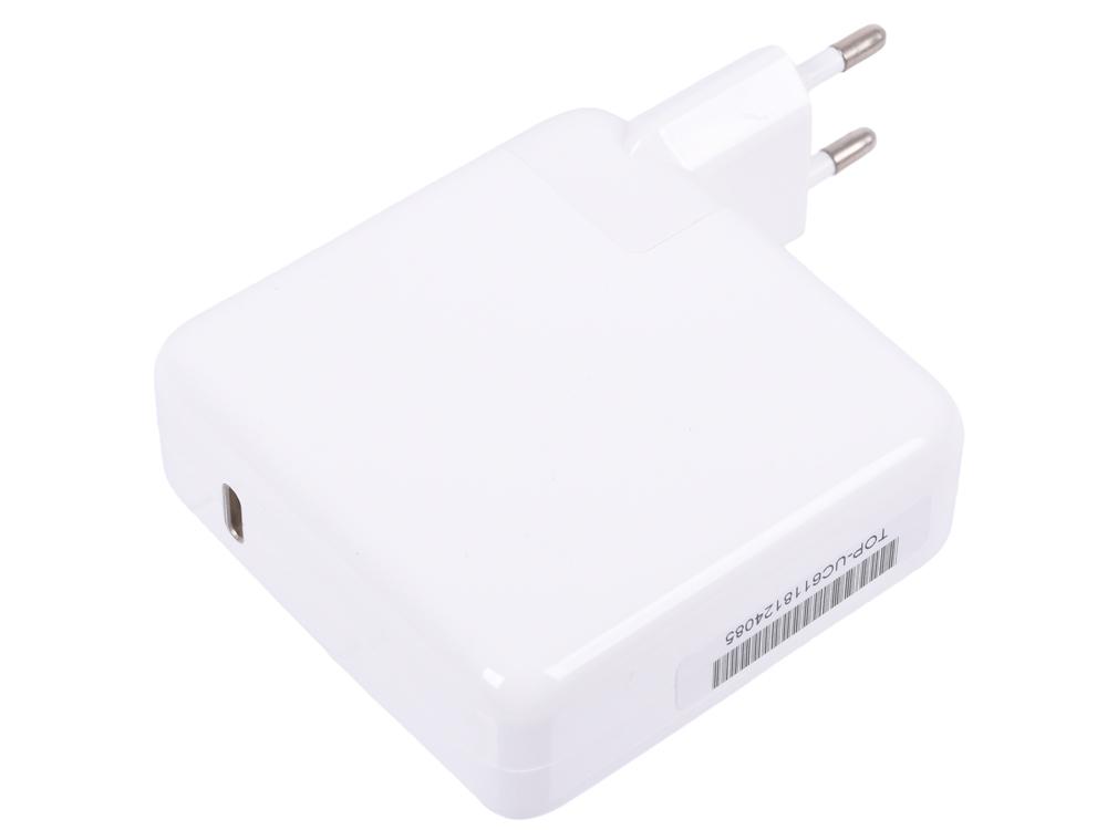Фото - Зарядное устройство TopON TOP-UC61 61W c портом USB Type-C, Power Delivery 3.0, Quick Charge 3.0, белый сетевое зарядное устройство deppa 11388 usb type c power delivery 30 вт белый