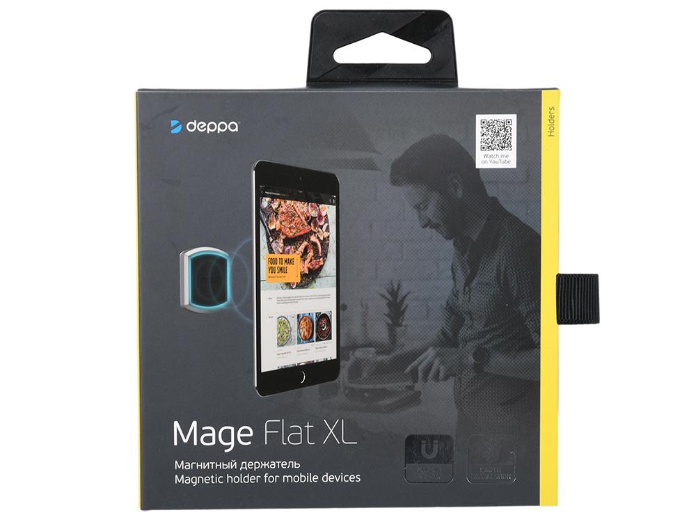 Картинка для Универсальный магнитный держатель Deppa Mage Flat XL для смартфонов и планшетов, 3М крепление, черный
