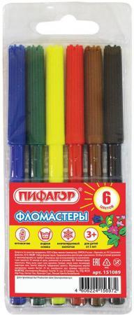 Набор фломастеров ПИФАГОР - 1 мм 6 шт