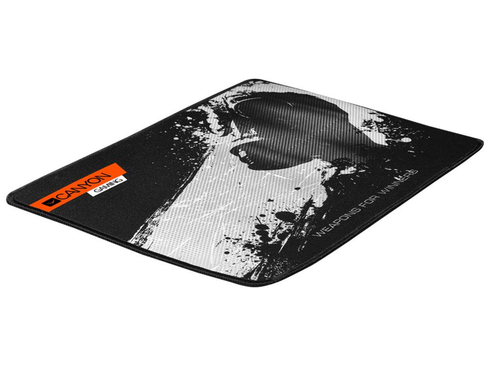 цена на Коврик игровой Canyon CND-CMP3, 350X250X3mm, прочная ткань, прошитое обрамление, черный