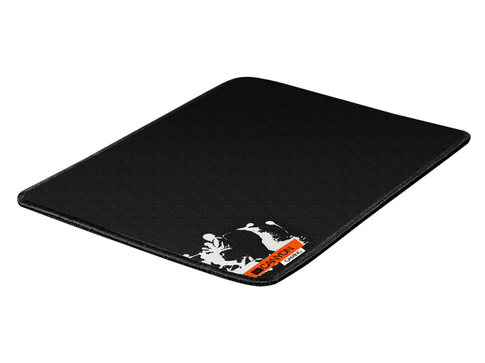 Коврик игровой Canyon CNE-CMP2, 270x210x3mm, прочная ткань, прошитое обрамление, черный кабель canyon cne usbm1b microusb черный