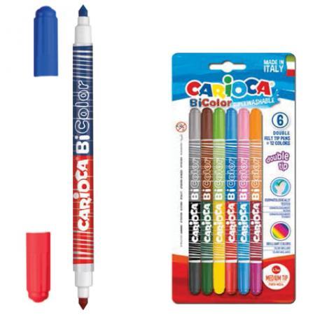 Набор фломастеров CARIOCA Bi-color 42269 4.7 мм 6 шт 151212 набор фломастеров carioca neon 8 шт 42785