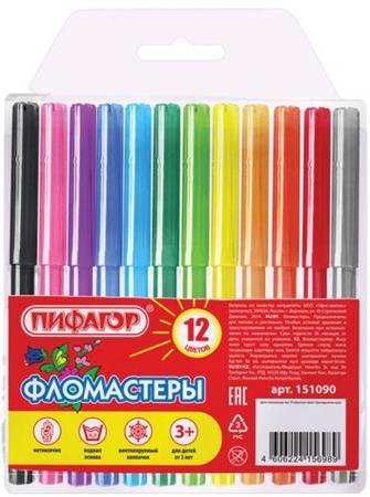 Набор фломастеров ПИФАГОР - 1 мм 12 шт