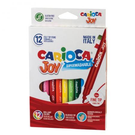 Набор фломастеров CARIOCA Joy2 40614 2.6 мм 12 шт 150107 набор фломастеров carioca neon 8 шт 42785