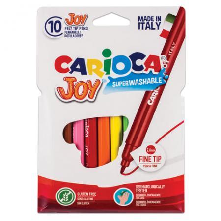 Набор фломастеров CARIOCA Joy 40528 2.6 мм 10 шт 151217 набор фломастеров carioca neon 8 шт 42785