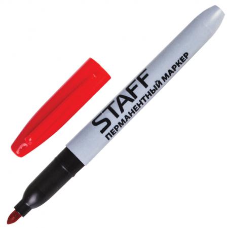 Маркер перманентный STAFF Маркер перманентный (нестираемый) 2 мм красный маркер двусторонний перманентный index для cd dvd красный imcd570 rd