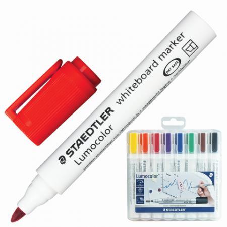 Набор маркеров для доски Staedtler 351 WP8 2 мм 8 шт оранжевый красный желтый фиолетовый синий зелен ути пути набор погремушек гремелки звенелки цвет красный желтый 2 шт