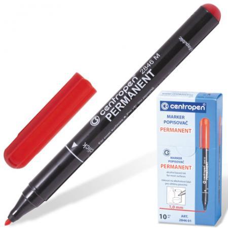 Маркер перманентный Centropen 2846/1 1 мм красный 150205 цена