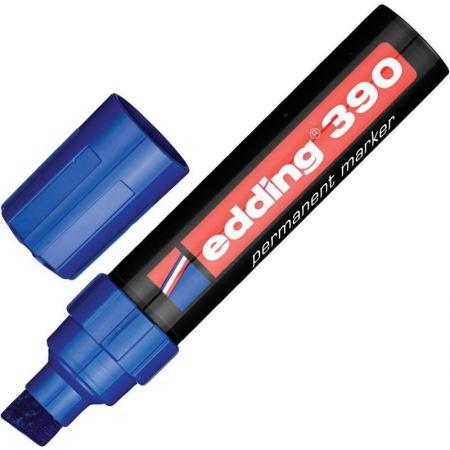 цены Маркер перманентный (нестираемый) EDDING 390, скошенный наконечник, 4-12 мм, синий, E-390/3