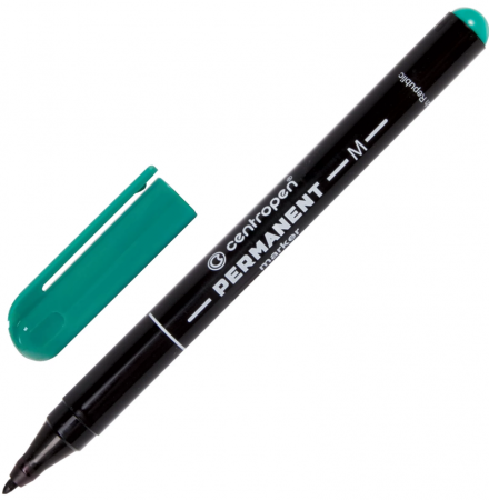 Маркер перманентный Centropen Маркер перманентный (нестираемый) 1 мм зеленый цена