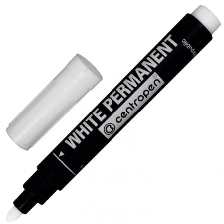 Маркер универсальный Centropen Маркер перманентный универсальный 2.5 мм белый