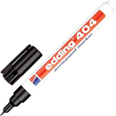 Маркер перманентный (нестираемый) EDDING 404, тонкий наконечник 0,75 мм, черный, E-404/1 edding маркер перманентный e 390 1 35738