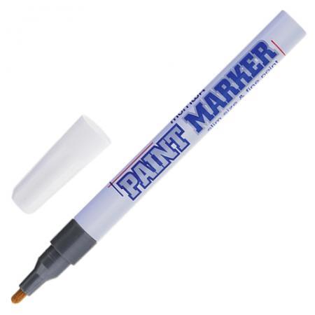 Маркер-краска лаковый MUNHWA Slim SPM-06 2 мм серебристый