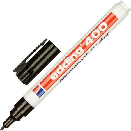 Маркер перманентный (нестираемый) EDDING 400, заправляемый, тонкий наконечник 1 мм, черный, E-400/1 edding маркер перманентный e 390 1 35738