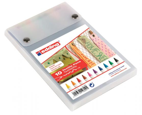 Набор маркеров для ткани Edding Маркеры для ткани 1 мм 10 шт ассорти