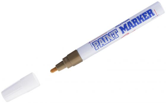 цена на Маркер лаковый MUNHWA PM-07 4 мм золотистый
