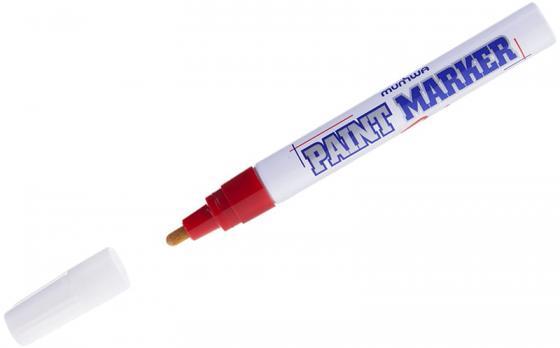 цена на Маркер-краска лаковый MUNHWA PM-03 4 мм красный