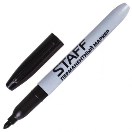 Маркер перманентный STAFF Маркер перманентный (нестираемый) 2 мм черный маркер перманентный f черный