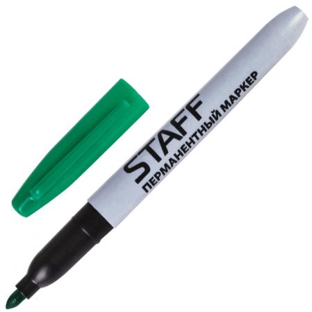 Маркер перманентный STAFF Маркер перманентный (нестираемый) 2.5 мм зеленый