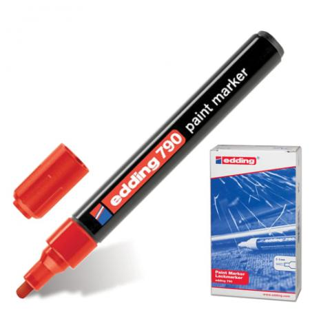 Маркер-краска лаковый Edding E-790/2 2, 3, 4 мм красный