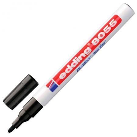Маркер перманентный Edding E-8055/1-B/1 1-2 мм черный маркер edding e 143 3 b 1 3mm blue 537635