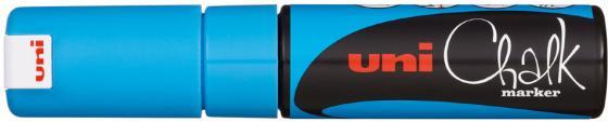 Маркер для окон и стекла UNI Chalk PWE-8K L.BLUE 8 мм синий цена